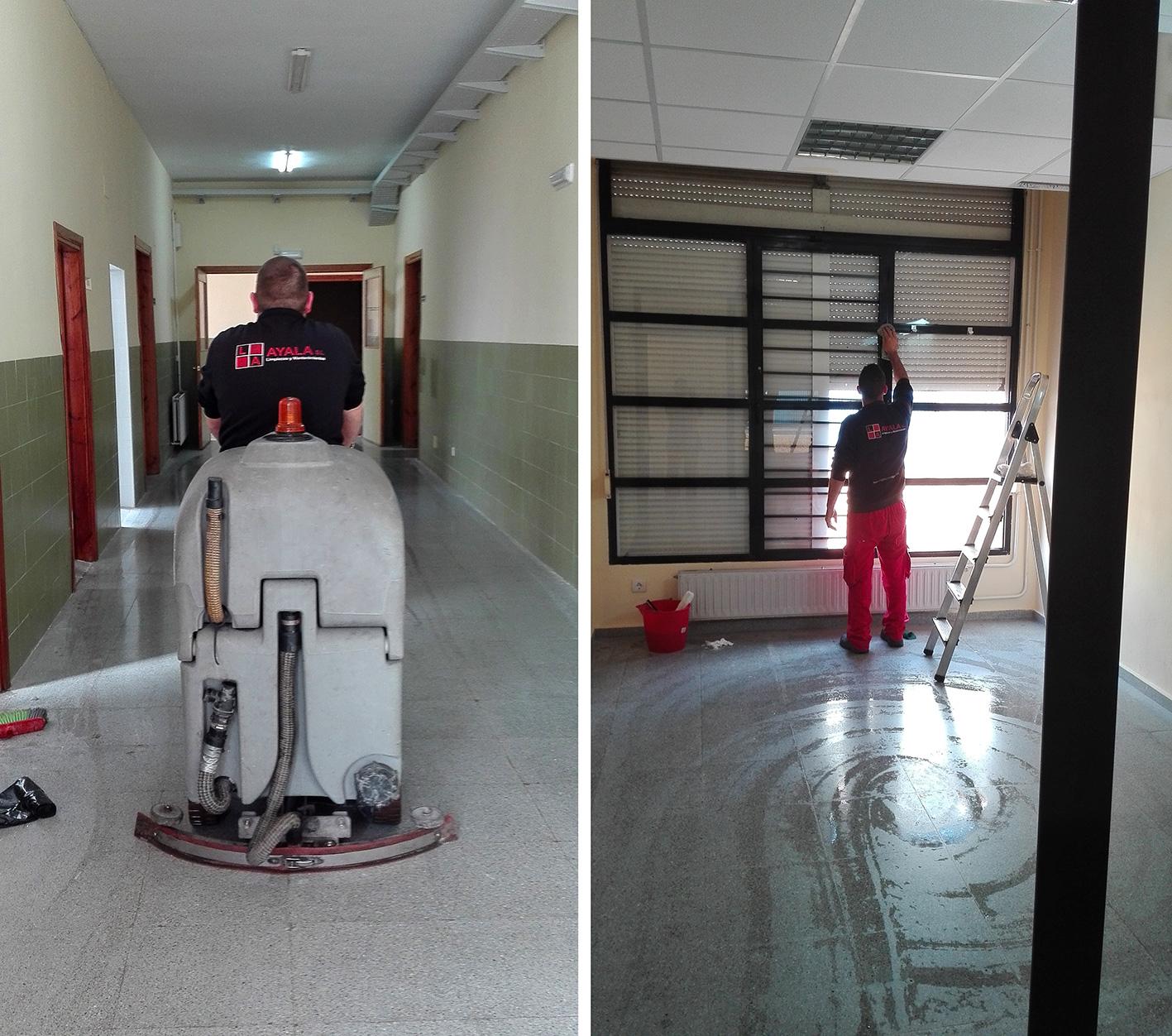 limpieza de colegios por Limpiezas Ayala