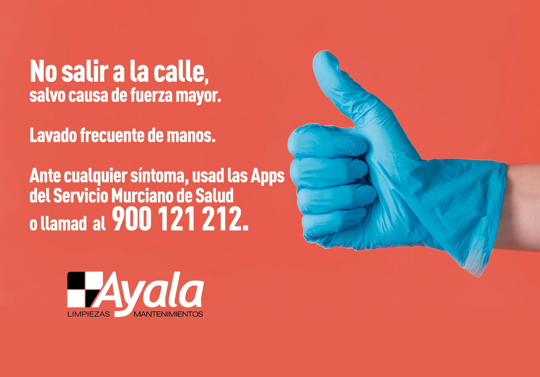 Recomendaciones COVID-19 Limpieza Ayala