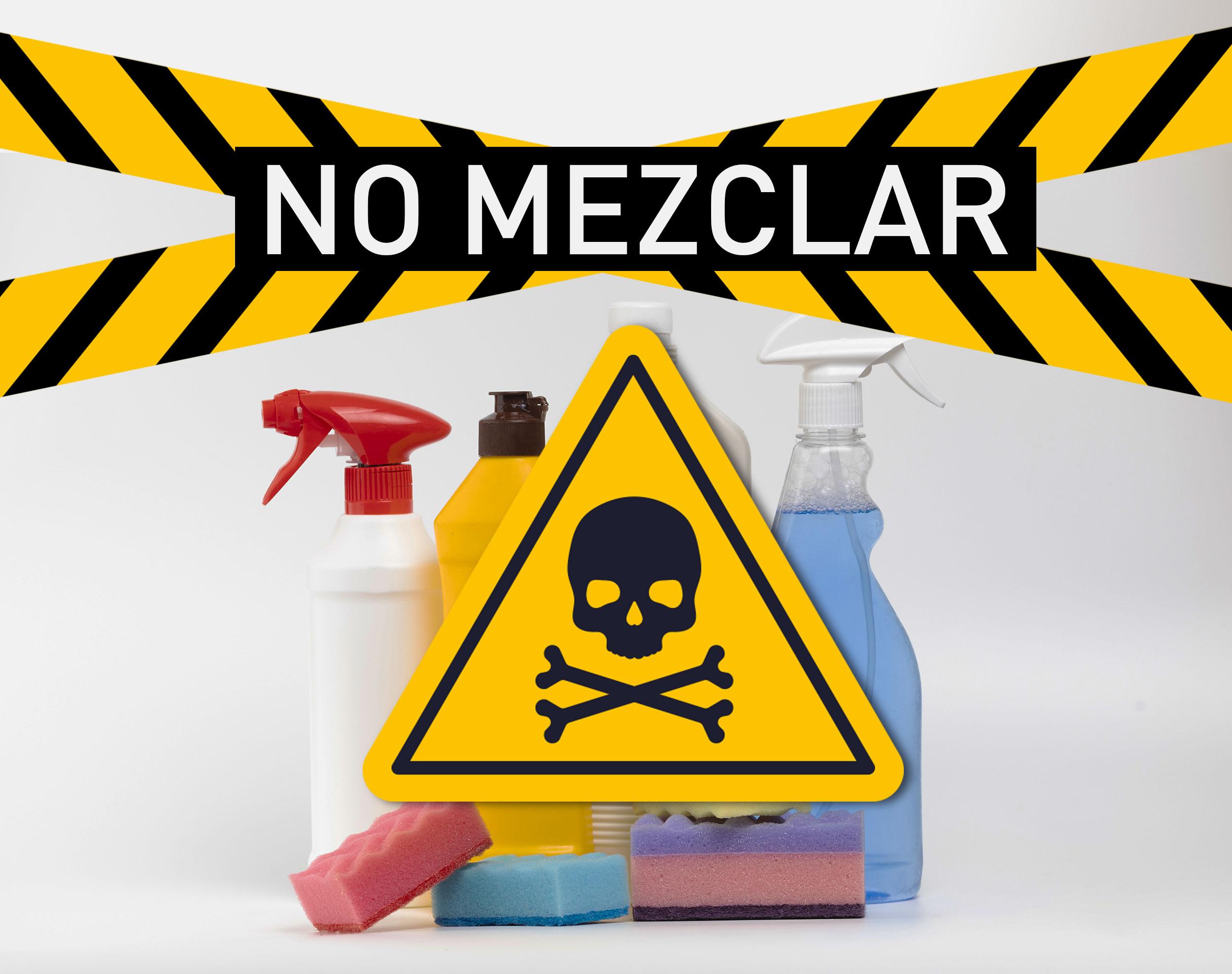 Productos que no debes mezclar la hora de limpiar.